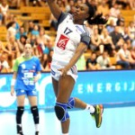 Siraba Dembele, capitaine de l'équipe de France de handball © S. Pillaud/FFHB