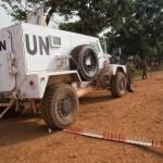 Opération de la MINUSCA à Bangui, février 2015. UN Photo/Nektarios Markogiannis