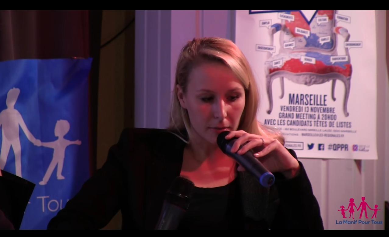 Marion Maréchal Le Pen, capture d'écran LMPT
