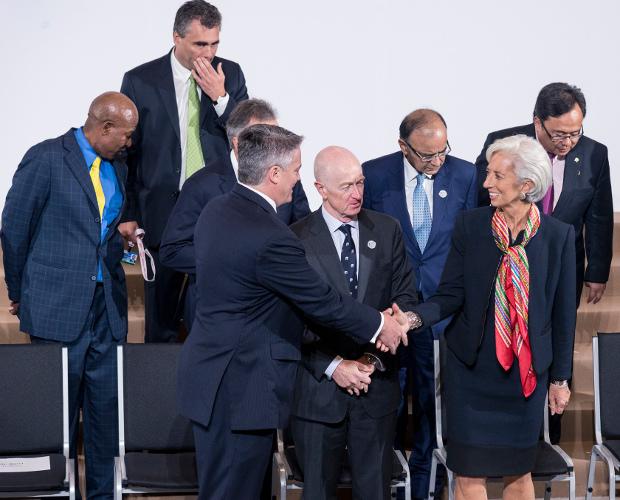 Christine Lagarde, directrice du FMI, à Lima (Pérou) le 8 octobre 2015. Par  amlima2015 sur Flickr (Licence CC BY-NC-ND 2.0)