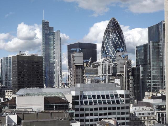 Le quartier des affaires à Londres, © Copyright Colin Smith, licence CC BY-SA 2.0
