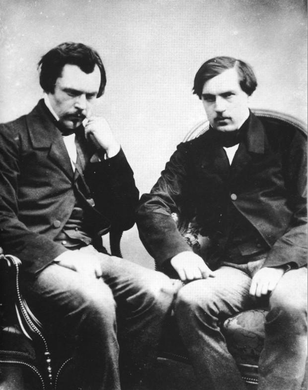 Edmond et Jules Goncourt photographiés par Félix Nadar (domaine public)