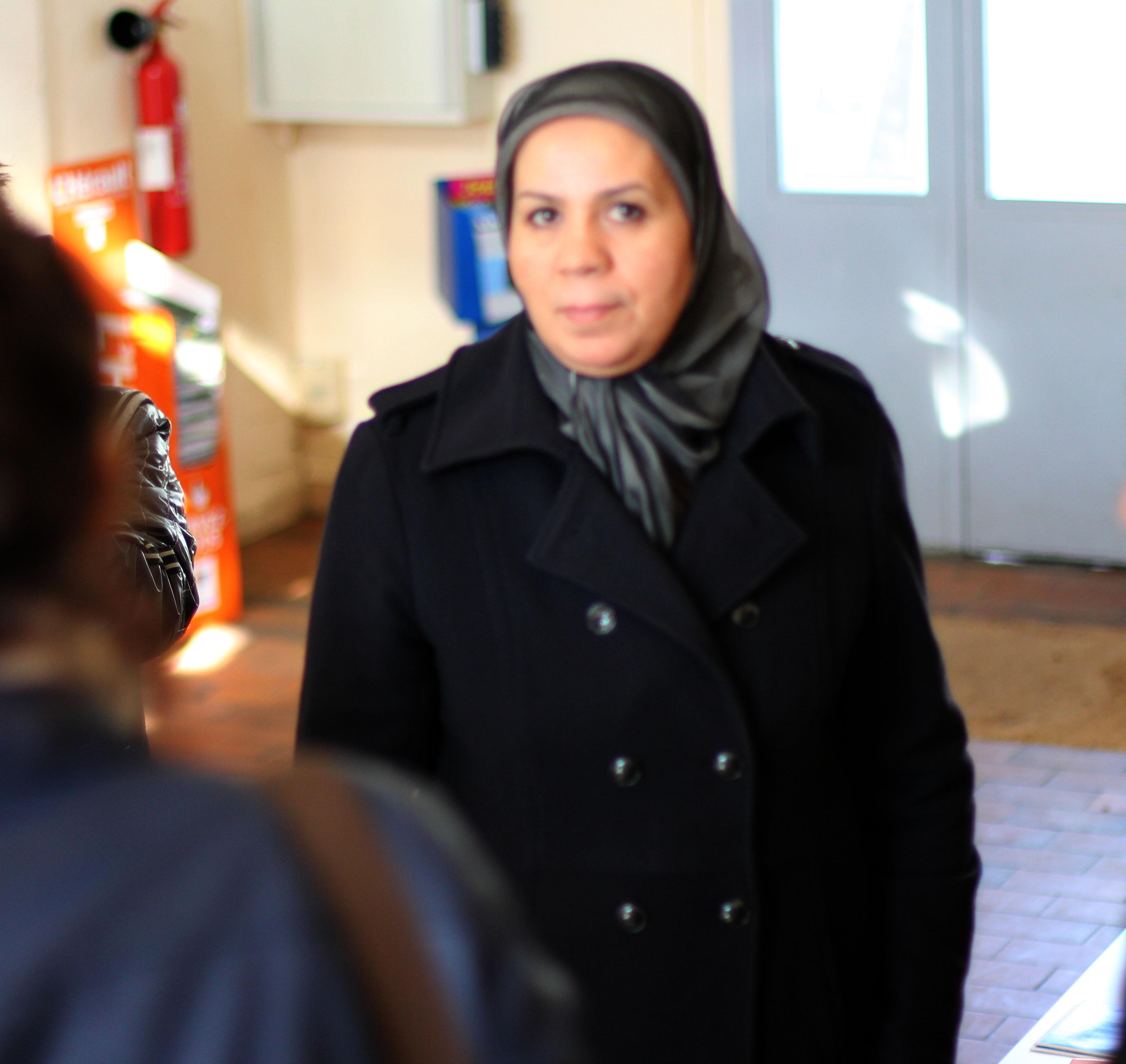 Latifa Ibn Ziaten en 2013 à Montpellier. Par Fouzia Abdellaoui  [CC BY-SA 3.0], via Wikimedia Commons