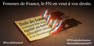 Affiche de Pascale Boistard, secrétaire d'Etat aux Droits des femmes