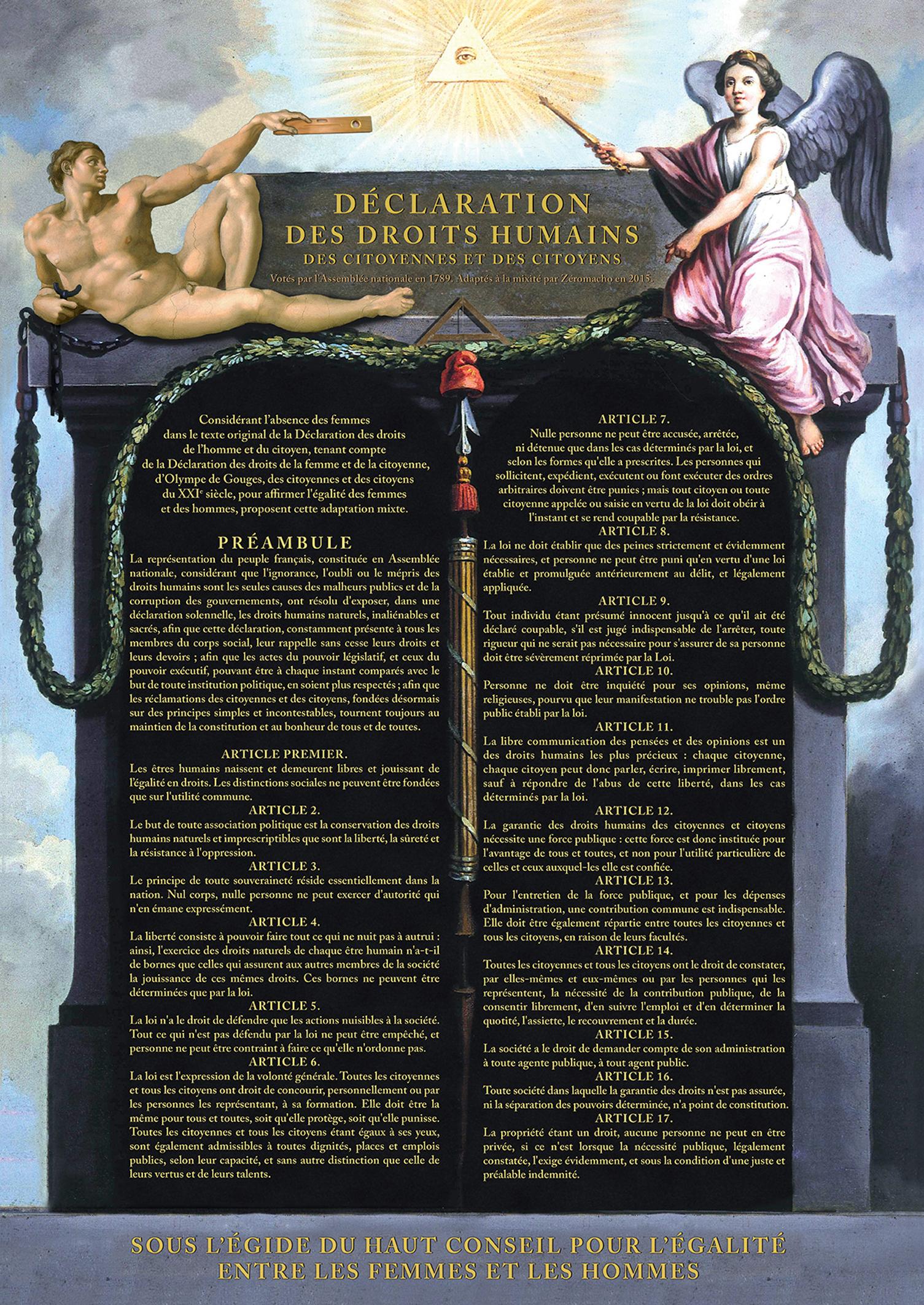 La Déclaration des Droits Humains par Zéro Macho