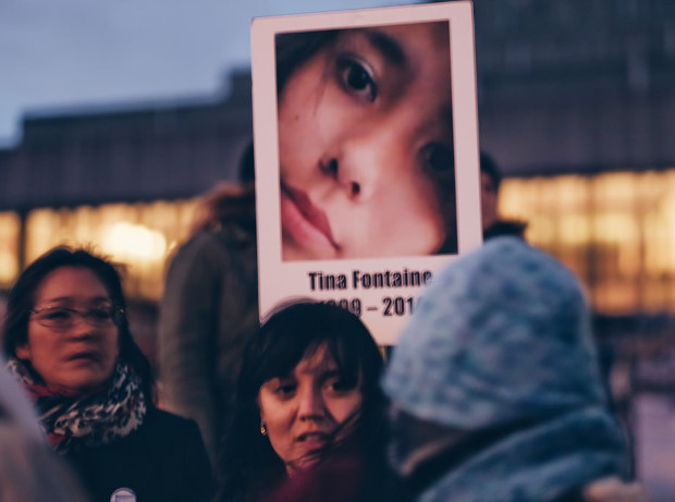 Rassemblement pour les femmes autochtones disparues. Québec, octobre 2015. Par davidcwong888 sur Flickr