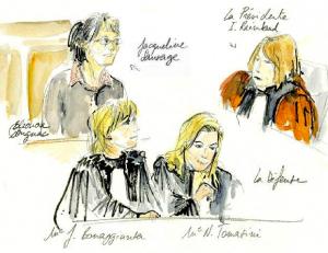 Procès de Jacqueline Sauvage, croquis d'Eléonore Dougnac
