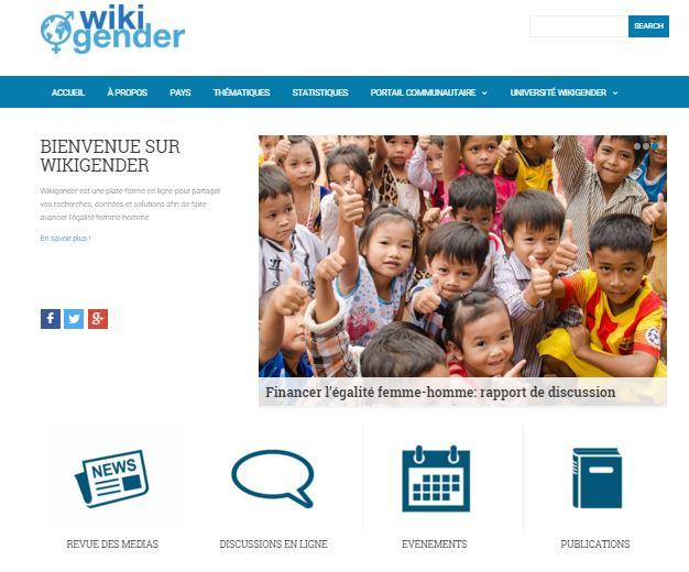 La version française de Wikigender propose de nombreux contenus entièrement dédiés à la thématique du genre. Capture d'écran de www.wikigender.org/fr
