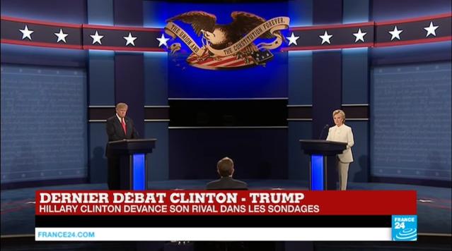 Capture d'écran du débat diffusé sur France 24