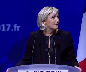 Marine Le Pen en meeting à Lyon le 5 février 207