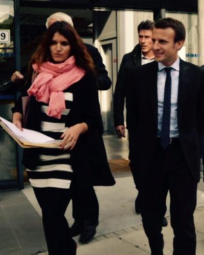 Marlène Schiappa et Emmanuel Macron