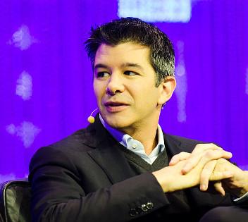 Travis Kalanick, PDG d'Uber, à la conférence LeWeb à Paris, décembre 2013. Par Heisenberg Media [CC BY 2.0], via Wikimedia Commons