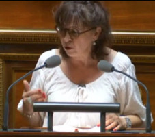 La sénatrice Eliane Assassi - capture d'écran Public Sénat