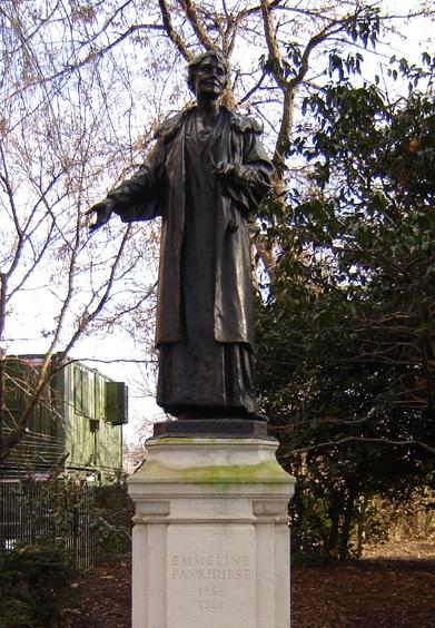 Statue d'Emmeline Pankhurst, Victoria Tower Gardens. Fin Fahey.