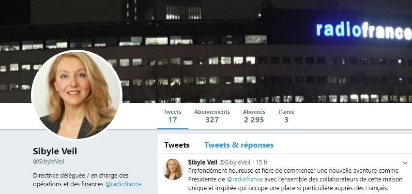 Sibyle Veil, présidente de Radio France